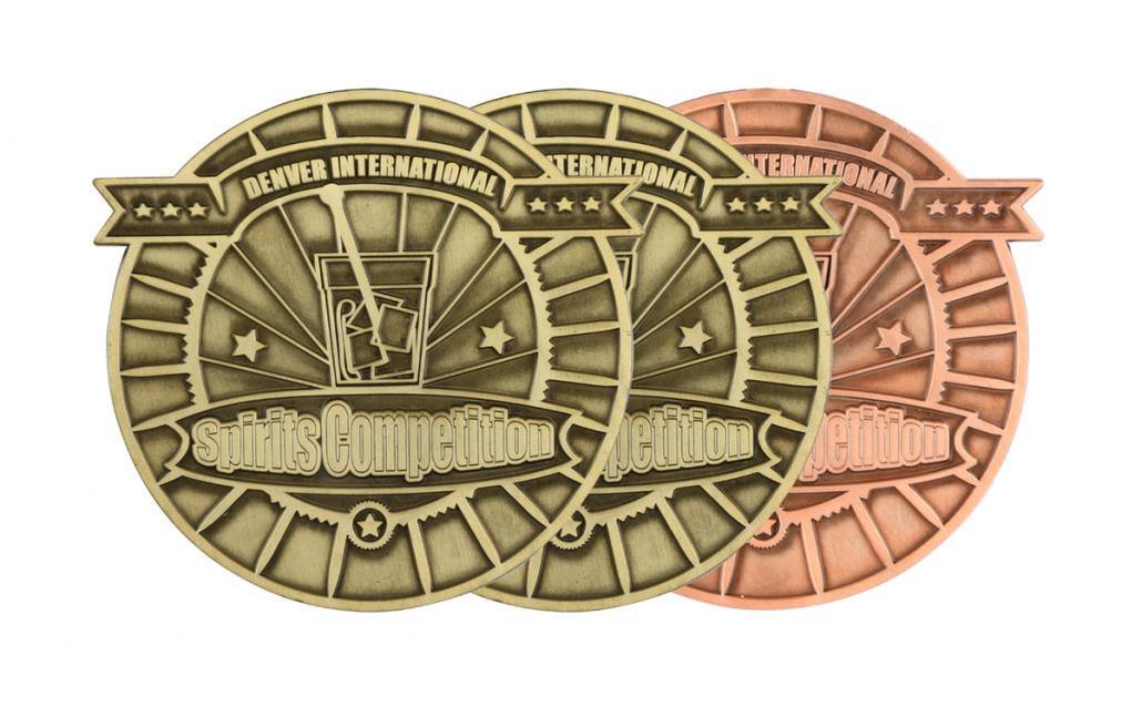 Denver International Spirits Competition Gold and Bronze medals