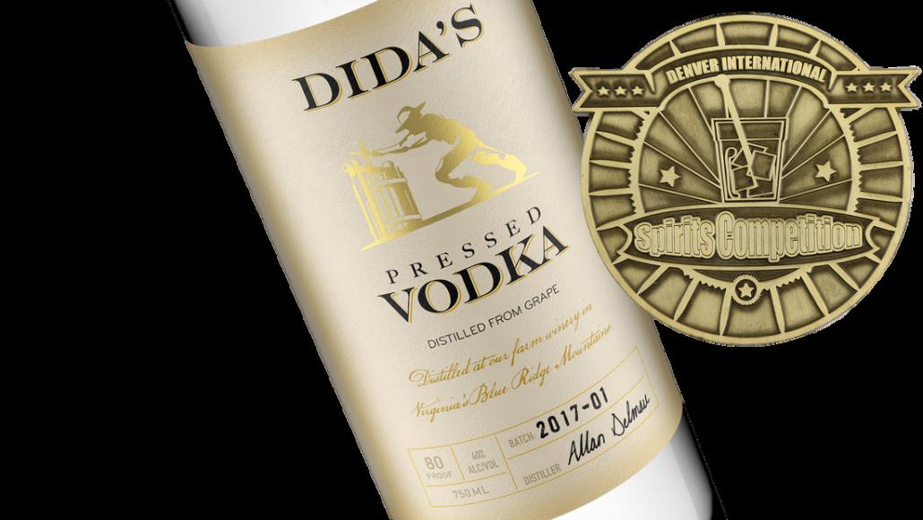 Vodka bottle with Gold Medal