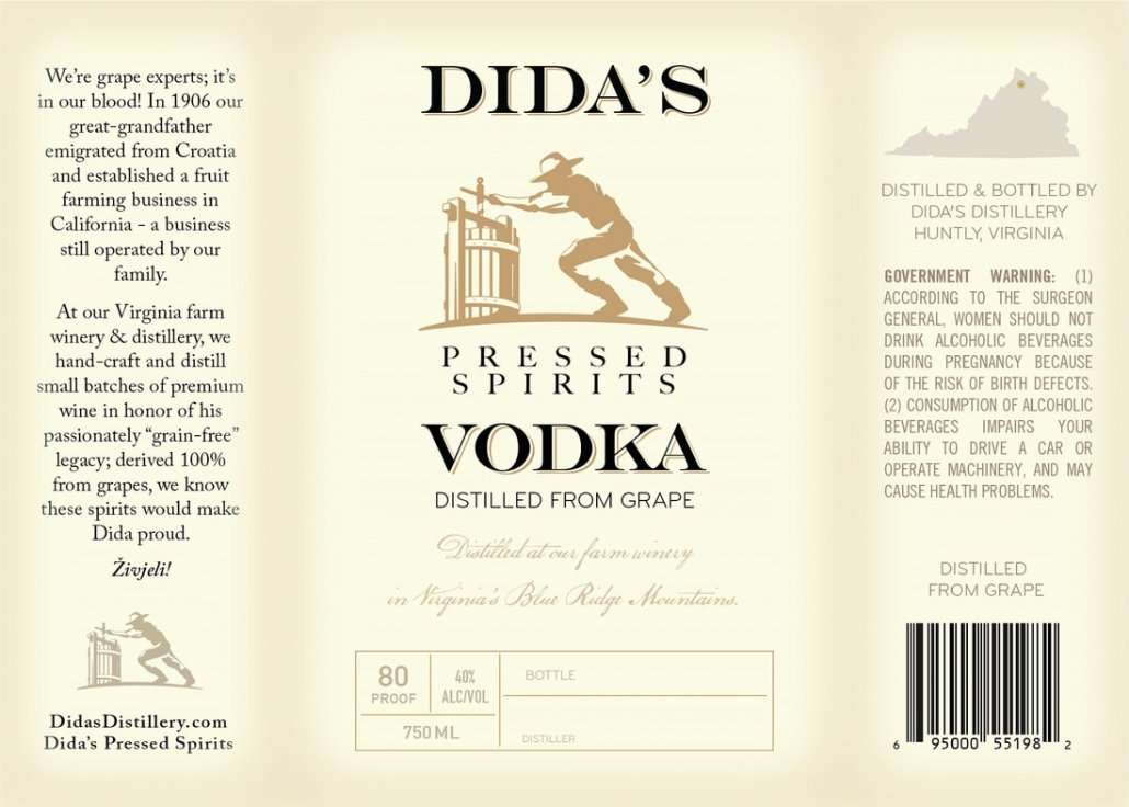 Dida's Vodka Label